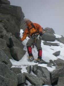 Abstieg Zuckerhütl Gipfelaufbau