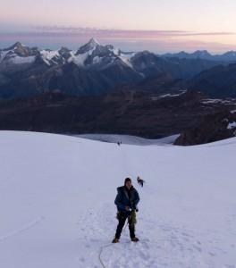 Aufstieg über Gletscher