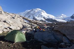 Biwakplatz oberhalb der Monte Rosa Hütte