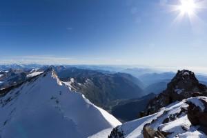 Blick vom Gipfel aufs Nordend