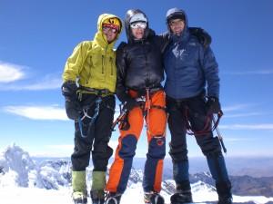 am Gipfel des Alpamayo