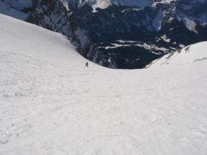 Die ersten Meter, Benni mit dem Snowboard