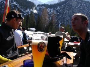 Bier und Blick auf die neue Welt