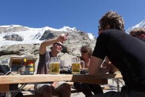 Das wohlverdiente Bier nach der Tour