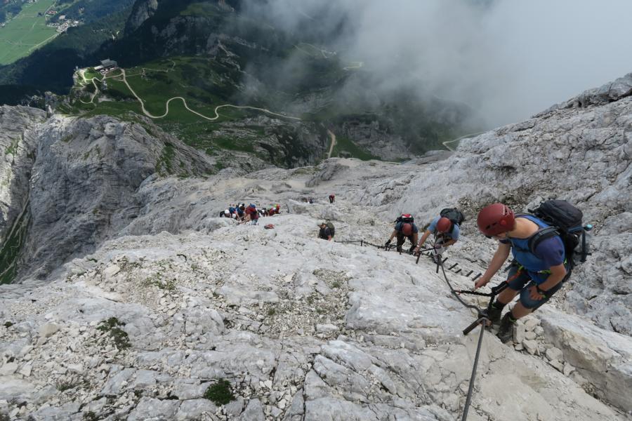 Klettersteig Garmisch : Klettersteige um garmisch partenkirchen u eine kurze Übersicht