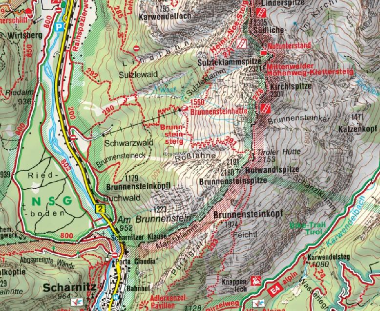 Karte Brunnsteinspitze