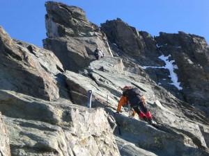 Kletterei im besten Fels