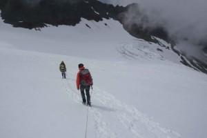 Oberhalb des Gletscherbruchs