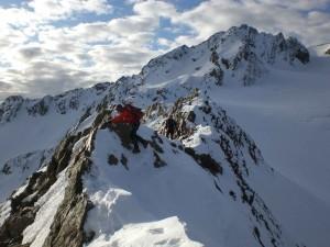 beim Abstieg am innere Quellspitze Grat
