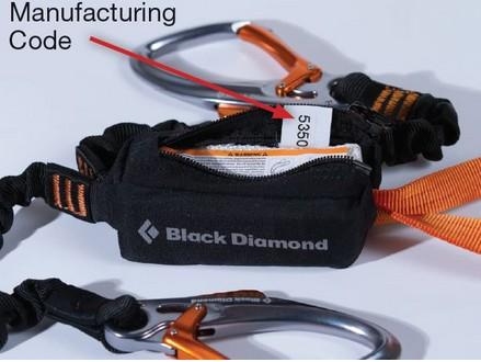 Der Herstellungscode findet sich auf einem Hänger in der Bandfalldämpfertasche