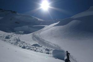 nach dem Gletscherbruch