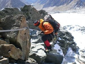 versicherter Steig zum Gletscher