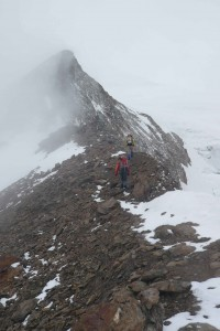 weiter geht es auf dem Grat bis zum Gletscher